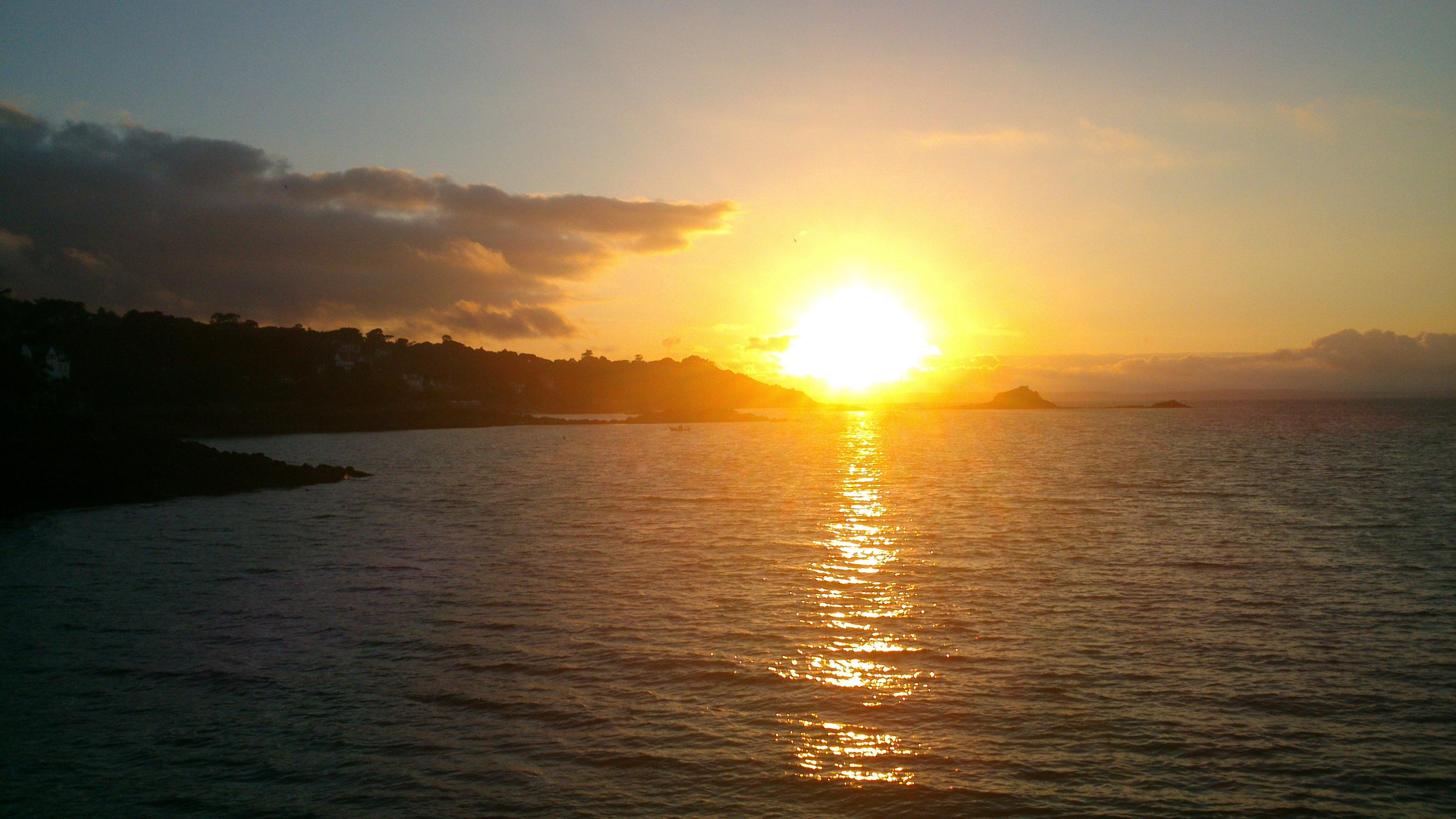 lever de soleil sur le Golfe